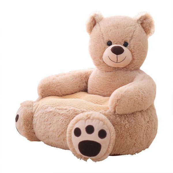 Dorimytrader Cartoon Panda Bear Child Sofa Mini Chair Leisure Sofa Tatami Baby Infant Kindergarten Sofa Stool 50x50cm DY50589