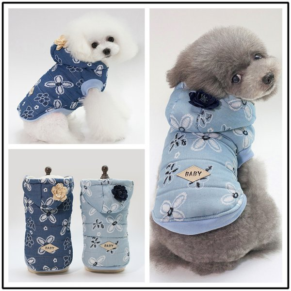 2019 Pet Dog Lady denim jacket Cat Winter Clothes Clothing for Cat Coats Coat Puppy Warm Costume for Small Dog Chihuahua