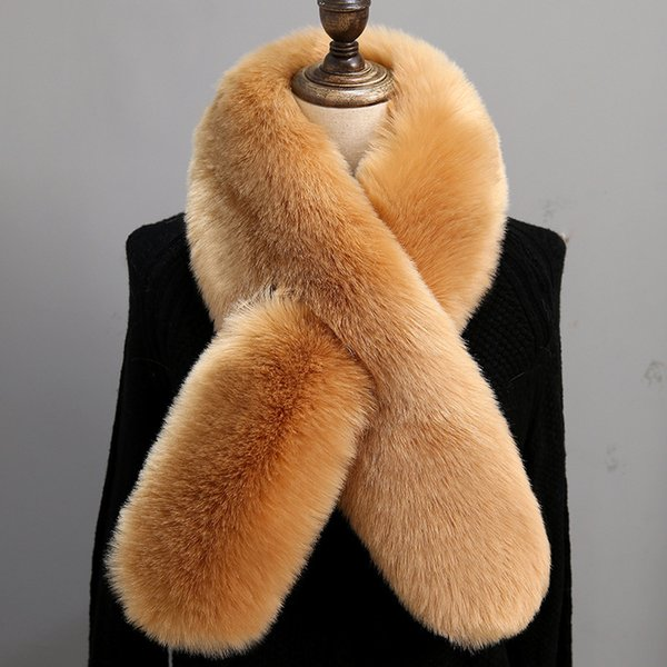 Women Faux Fur Collar Scarves Winter Artificial Fur Cape Poncho Fashion Lady Elegant Warm Scarfs Neck Warmer TTA1511