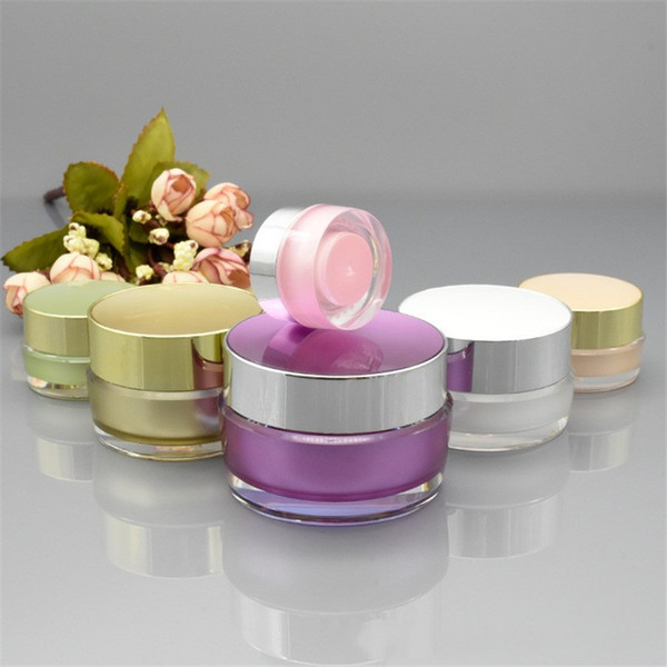 best selling 5g 10g 20g 30g Portable Acrylic Cosmetic Makeup Face Cream Jar Sample Container Bottle Refillable Pot