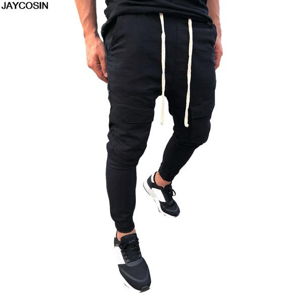 KLV pantolon yaz Moda Erkekler Elastik Kemer Elastik Ayak Ağız Güvenlik Cep Tulumları Sweatpant Pantolon Sıcak Satış dayanıklı 9419