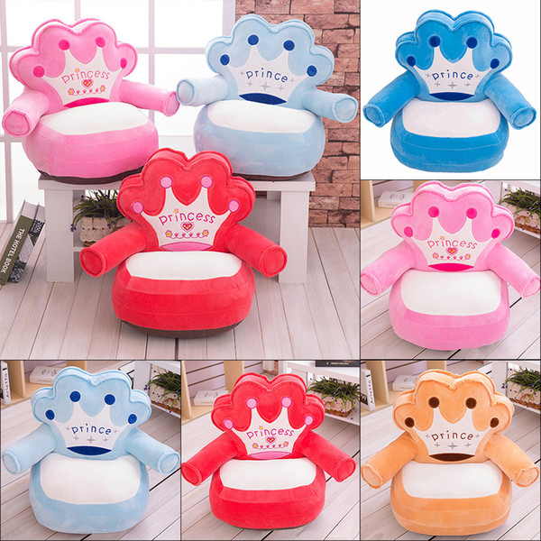 Infant Bag Chair Soft Baby Chair Seat Puff Infant Baby Nest Feeding Chair Sofa Comfort Plush Kids Chairs Only Cover No Filling J190506