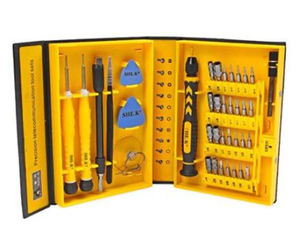 38 in 1 Profession Repair Tool Kit Mobile Phone DIY Screwdriver Precision Repair Tool For Iphone X Cell Phone DHL Free