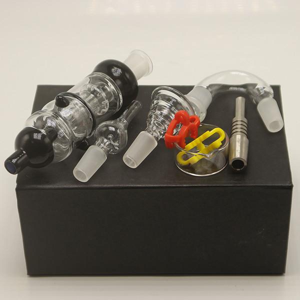 Honeybird Pro Glass Bubbler Kit 14mm Gaivota Perc Tubulações De Água Com Titanium Vidro Prego Tigela Adaptador de Mel Dab Palha De Vidro Água Bongs