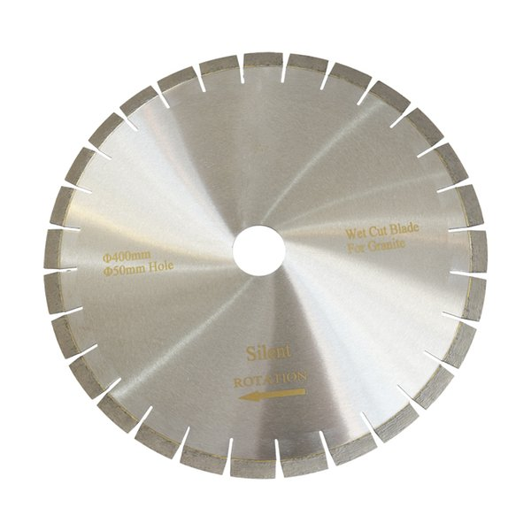 16 Inch D400mm Silent Blades Diamond Saw Blades for Granite Edge Cutting Diamond Cutting Disc Stone Cutting Tools One Piece