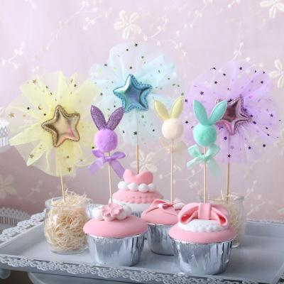 Bulk Lovely 11 Styles Star Bunny Cupcake Topper Wedding Decoration Centerpieces Kitchen Accessories Home Decor Birthday Party Supplies Party Supplies