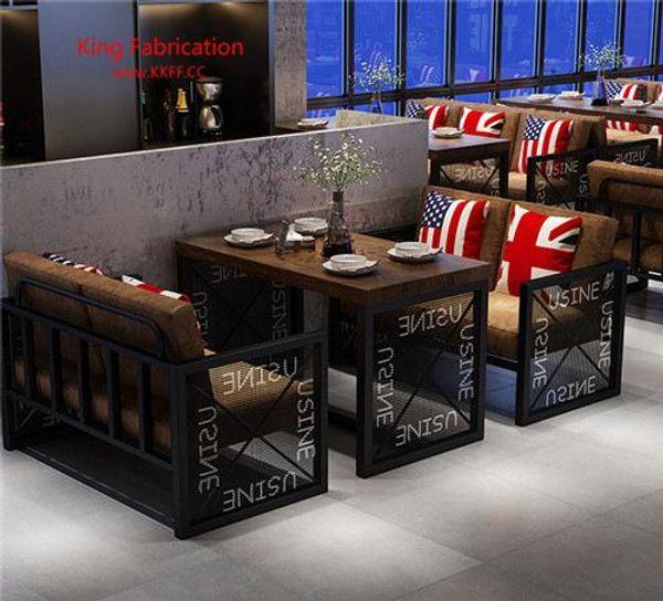 Compre Restaurante De Hierro Retro Bar Terraza Sofá Cafetería Mesa Y Silla A 603 02 Del Yiranyihen Dhgate Com