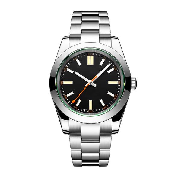 Mens Reloj Mecánico Automático Moda Casual de Negocios 41 mm Marcado 2813 Movimiento Acero Relojes Deportivos Top plateado Reloj de pulsera Envío gratis