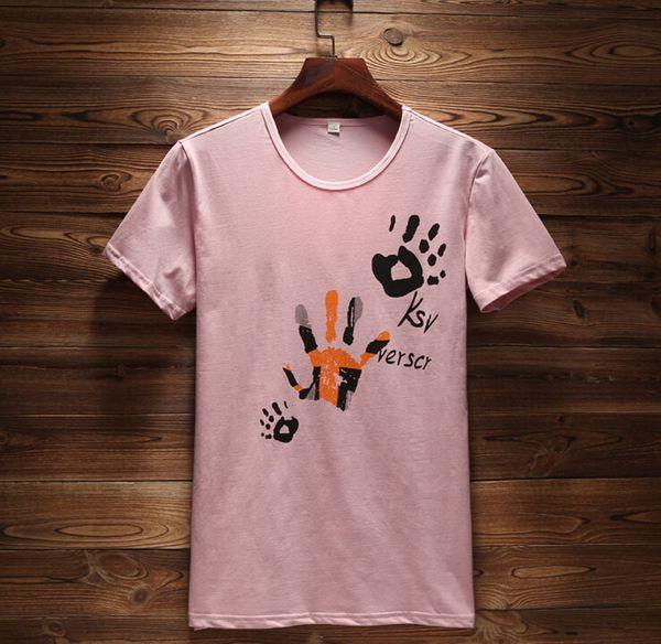 Hombre Mujer Parejas Camiseta de algodón de manga corta Camiseta de palma Nueva moda Verano Impreso Casual Hombres Tops Camisetas