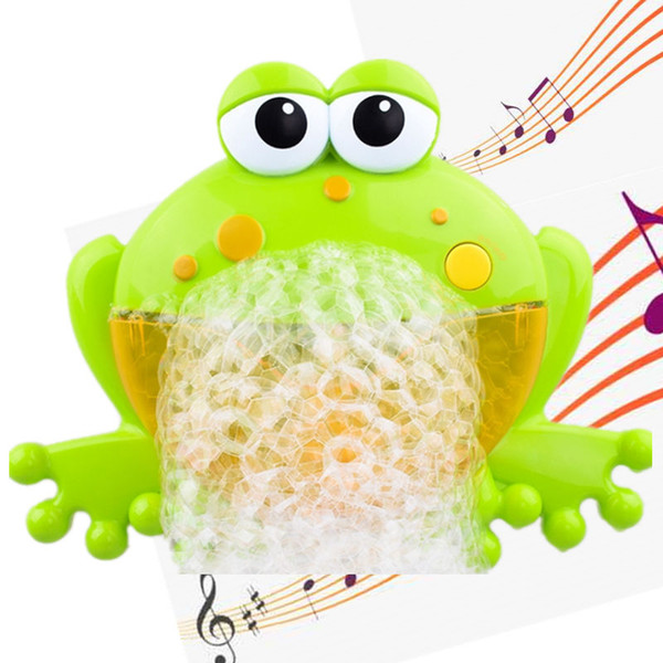 Baby Bath Toys Frogs Automatic Bubble Maker Blower Kids Bubble Machine Music Maker Bathtub Soap Machine Toys For Children