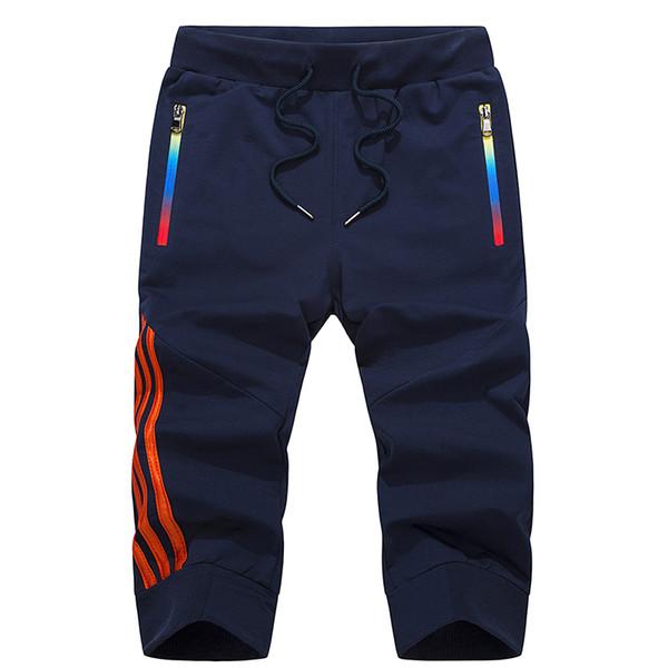Erkek Kısa Joggers Güz Pantolon Erkekler Pilili Sweatpants Keen Uzunluk İnce Kısa Masculino Ripped Hip Hop Kısa 3/4 Pantolon Yaz Y19043003