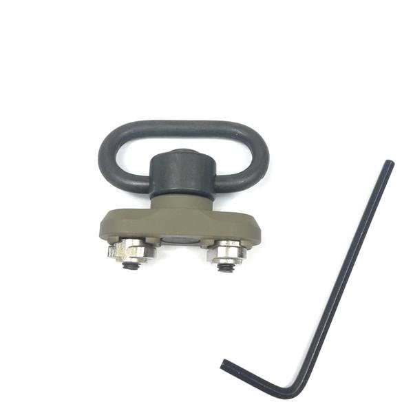 QD 1.25 Inch Sling Swivel Adapter Rail Mount Kit (QD Swivel Included) Fits M-Lok Handguard Flat Dark Earth Color