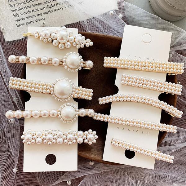 Nouveautés Arrivées Pour Femmes Vintage Or Couleur Argent Perles Simulées Bâton De Cheveux De Mariée Broche Bâton Accessoires O1935
