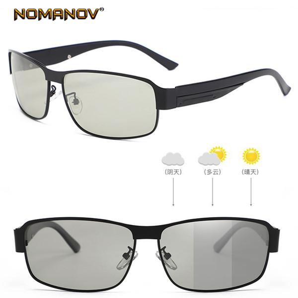 nuevo estilo a06d3 6478c Compre Gafas Fotocromáticas Inteligentes, Gafas De Sol Polarizadas,  Clásicas, Retro, De Medio Marco, De Metal A $83.04 Del Harrieta | DHgate.Com