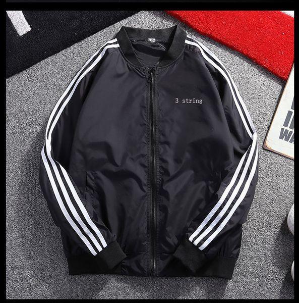 Mens Jackets Fashion Sport Casual Coat for Men Stand Collar Spandex Zipper Tide Windbreaker Cool Hot Sale Mens Jackets Plus Size M-5XL
