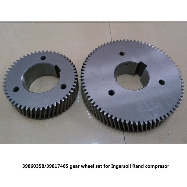 Free shipping Genuine gear wheel set driven gear shaft 39860358/39817465 for Ingersoll Rand screw air compressor parts