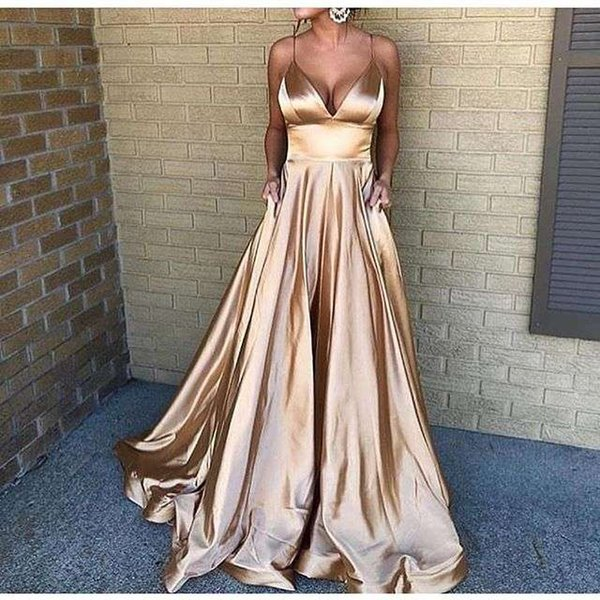 PROM DESIGNER STRETCHY LONG EVENING GOWNS SPAGHETTI STRAP DRESS SPECIAL OCCASION