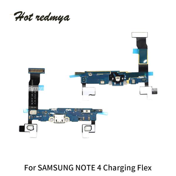 Parti di riparazione del cavo della flessione del porto del bacino del caricatore di carico della flessione di USB per la nota 4 N910 di Samsung Galaxy Note3 N9005 Trasporto libero
