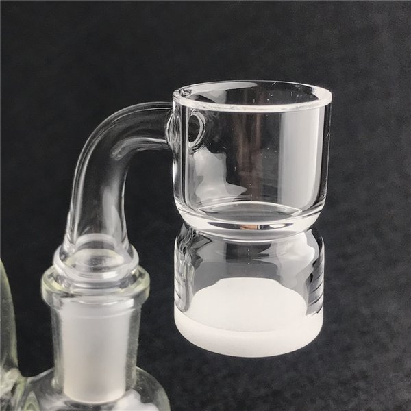 New Quartz Splash Guard Banger Nail with Thick Opaque Bottom Beveled Edge Flat Top 25mm XL Domeless Quartz Bangers for Glass Water Pipes