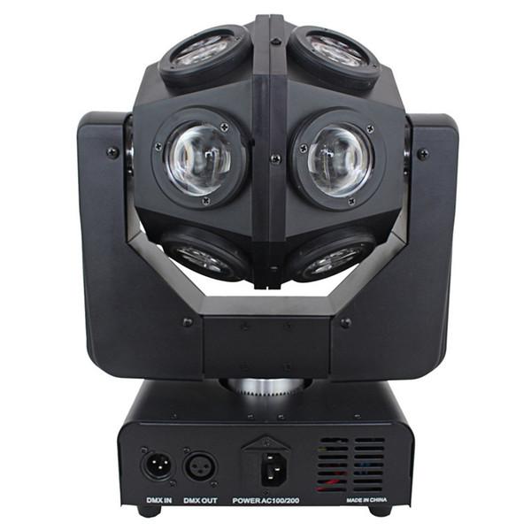 Kafa LED Işın Tarayıcı Işık Sahne KTV Disco Aydınlatma Hareketli Yüksek Parlaklık 16x12W RGBW 4in1 Çift