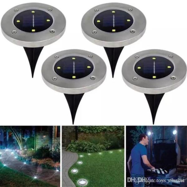 Outdoor Disk Lichter Solar Disk Lichter Solarbetriebene 8 LED wasserdichte Outdoor tragbare Laternen Wandern Garten Treppenlicht