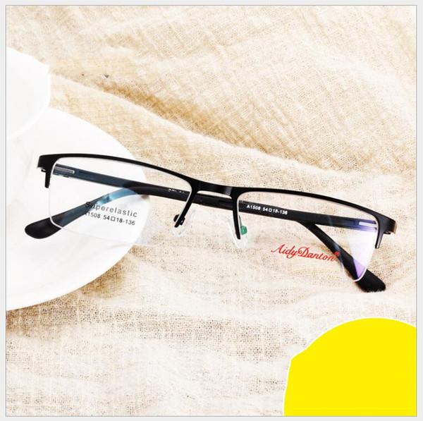 Spectacle cadre lunettes hommes Nerd en alliage de titane Computer Tag optique Marque Lunettes Homme Transparent Objectif