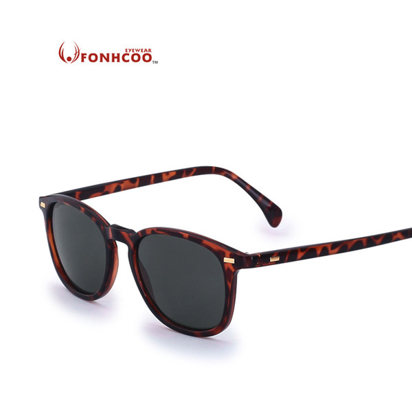 2018 Fonhcoo New Fashion Polarisierte Sonnenbrille Männer Markendesigner Klassische Frauen Retro Niet Shades Runde Gläser Uv400 Hot Rays