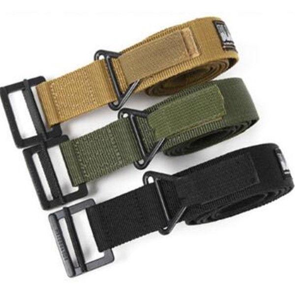 Cinturones tácticos de los hombres Ajustable Negro Hawk rescate de emergencia militar Rigger Rigger ejército pretina 3 colores 50 unids AAA1580