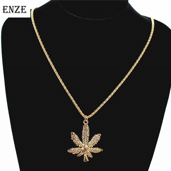 Аксессуары длинное ожерелье ENZE Бесплатная доставка Женская мода пара ювелирных Индивидуальность листьев Подвеска Новые Популярные
