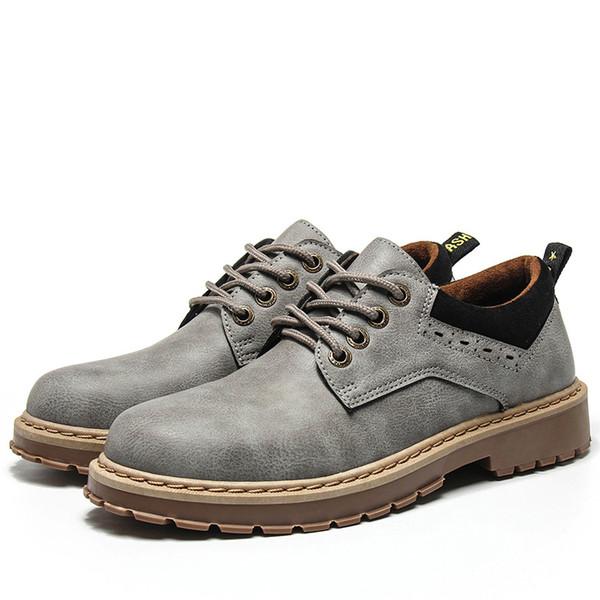 Homens de Couro Genuíno Sapatos Casuais Homens De Couro Martin Shoes Botas de Segurança de Trabalho Designer de Apartamentos Flats Sapatos de Segurança de Trabalho