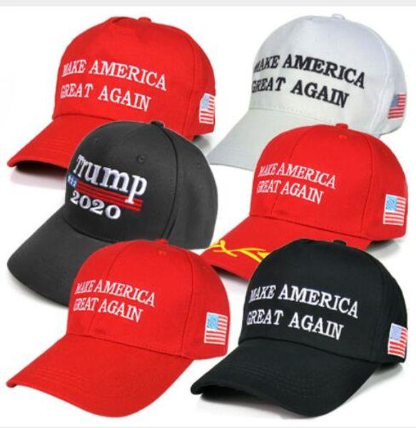 top popular 40Pcs Make America Great Again Hat Donald Trump Republican Snapback Sports Hats Baseball Caps USA Flag Mens Womens Fashion Cap AC53 2019