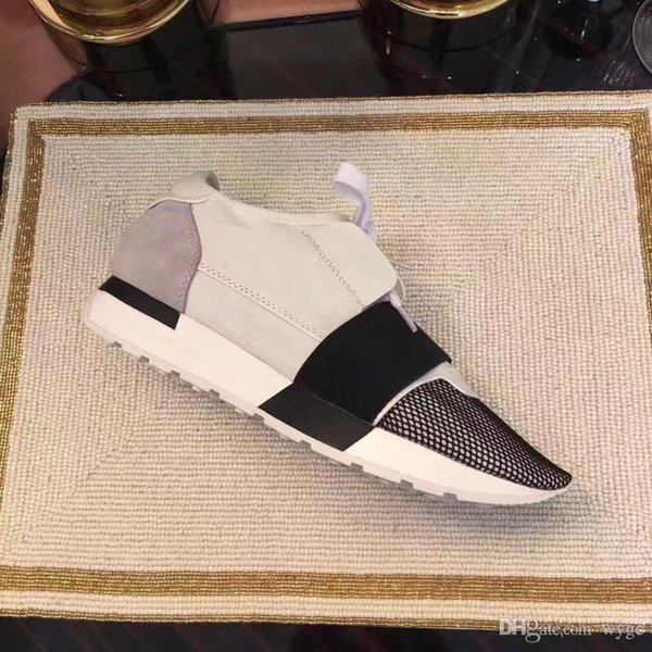 Balenciaga Race couple shoes Balenciagas 2019 LÜKS TASARIM MARKA TASARIMCI flats Hakiki Deri ERKEK SNEAKERS MENS RUNNERS KADIN Kaykay casual AYAKKABI womens