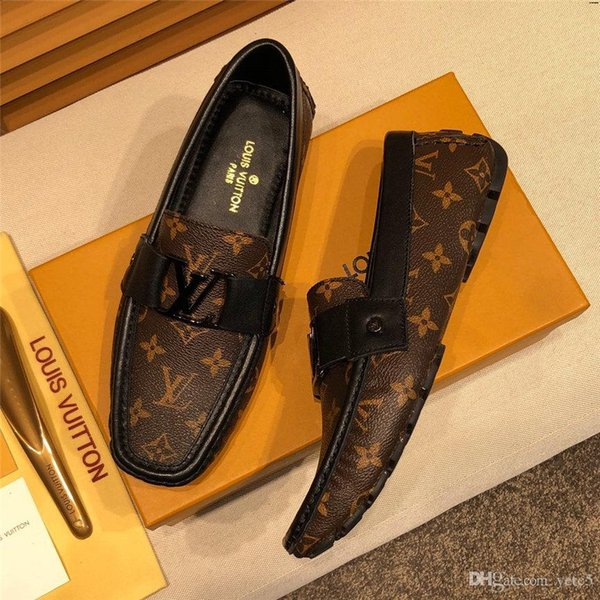 20WR driving SHOES men leather luxury mens SHOES genuine leather SHOES men Comfortable loafers sepatu pria kulit asli tenis masculino YETC8