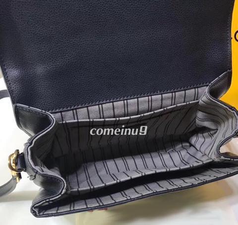 Black Emboss Leather