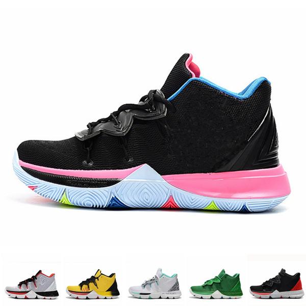Compre Nike Air Jordan 2019 Nuevos Hombres Kyrie V Zapatos Irving 5S Black Magic Egipcio Faraón Camuflaje 5 Zoom Zapatillas Deportivas De