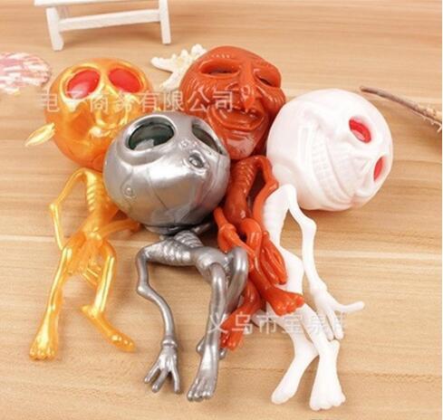 Kuso Crânio Originalidade Alienígena Fantasma Cabeça Squeeze Ventilação Descompressão Squeezing Water Ball Halloween Presentes Squishy Brinquedos