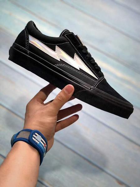 Yeni Revenge x Fırtına Sneakers Pop up Mağaza En Kaliteli Eski Dış Cephe Moda Izgara Erkek Kaykay Vulkanize Ins Tuval