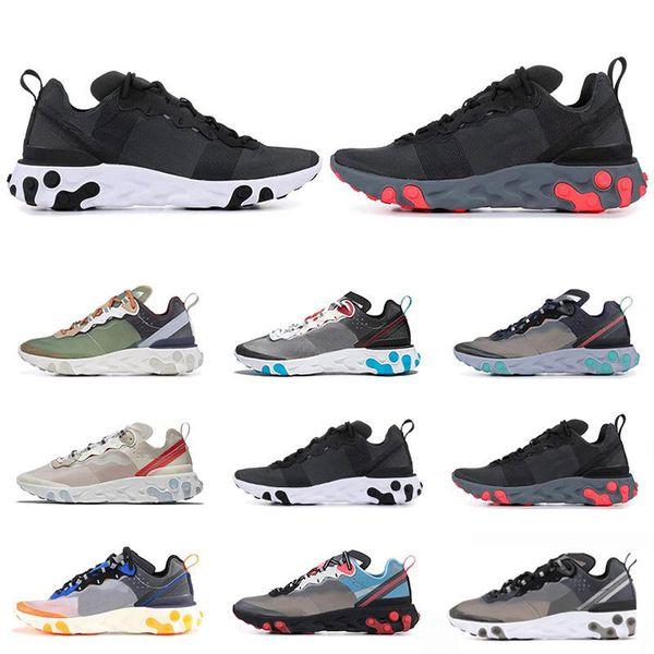 2019 Epic react element 87 55 running shoes for men women white black total orange mens fashion luxury mens women designer sandals shoes