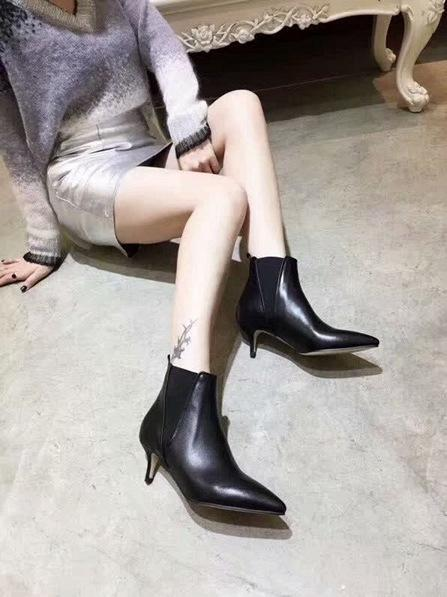 Best designer shoes, the most trendy Italian knife cut leather face pointed boots, wear-resistant stiletto fashion shoes heel 5.5CM