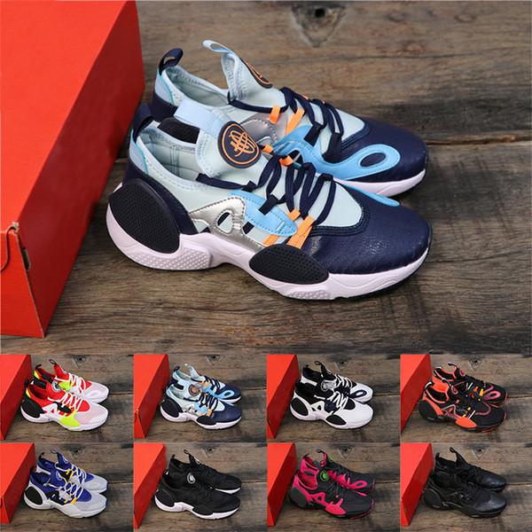 Huarache 7 E.D.G.E.TXT QS 2020 Oreo Üçlü Siyah Beyaz Colorway Bayan lüks tasarımcı eğitmenler Sneaker Ayakkabı Koşu 7.0 Mens
