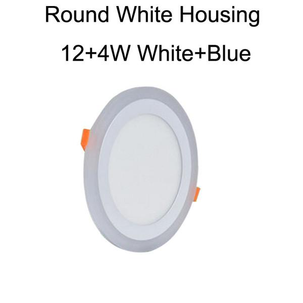 Round White Housing 12+4W White+Blue