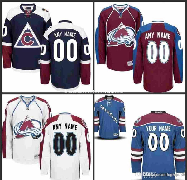 best sneakers 9fd83 a78b5 2019 Custom Colorado Avalanche Jerseys Authentic Personalized Cheap Hockey  Jerseys Any Number & Name Embroidery Logos Size S 3XL From James_02_shop,  ...