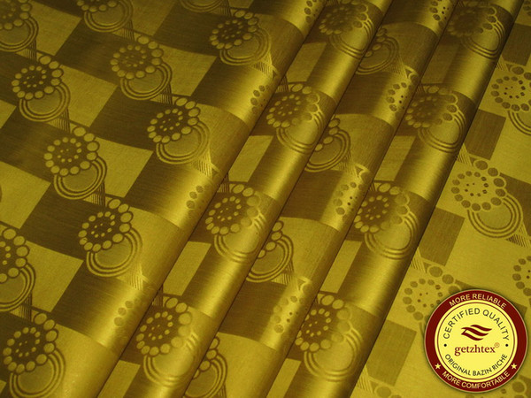 Bronz Renk Almanya Kaliteli Jakarlı Şam Bazin Riche Gine Brocade Afrika Konfeksiyon Pamuk Kumaş 100% Pamuk Getzner benzer
