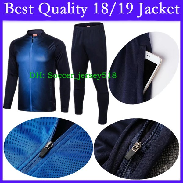 :) A +++ Qualität 2018/19 Italien Fußballjacke Trainingsanzug 18 19 Fußballjacke Kit Italien Erwachsene Trainingsanzug Set Langarm Sportbekleidung