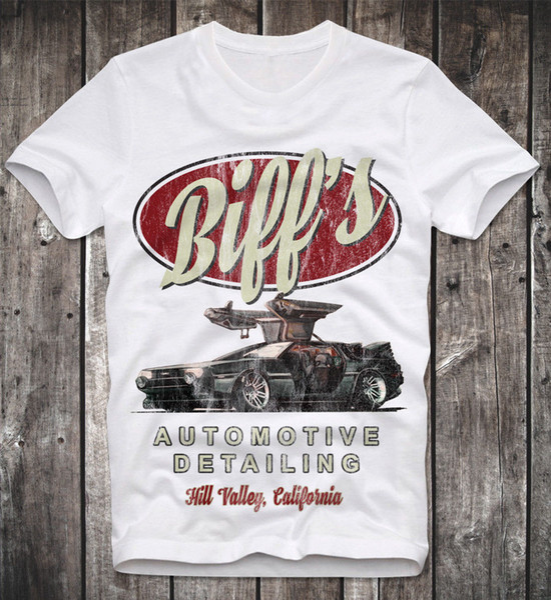 T-shirt Detalhamento Automotivo de Biff de Volta para o Futuro Zuruck In Die Zukunft Doc