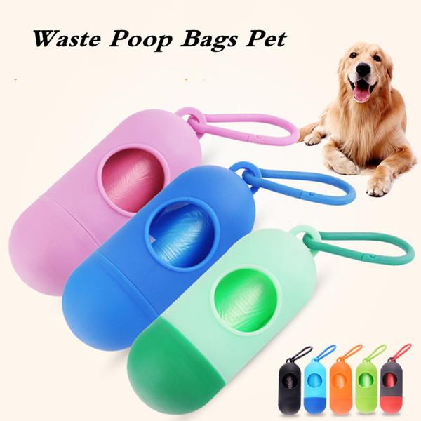 Dog Plastic Bags Portable Pet Dog Dispenser Garbage Case Poop Bags Pet Waste Bag disposable bags for pets pet SuppliesT2I5334