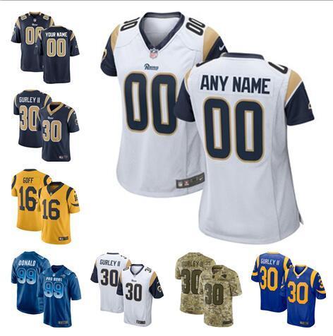 buy popular ffb68 633ec 2019 Rams Todd Gurley II Jersey Aaron Donald Jared Goff Custom Vapor  Untouchable Color Rush Custom American Football Jerseys Factory Color Rush  From ...