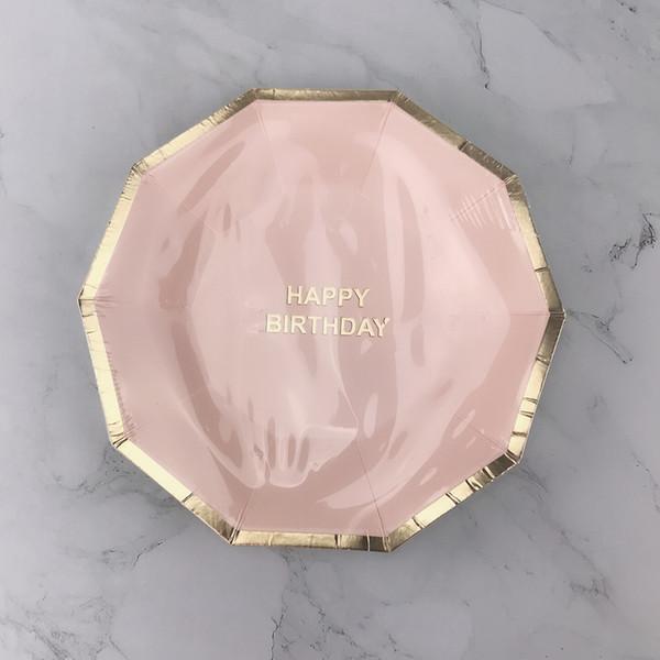 8pcs plaque pink9inch