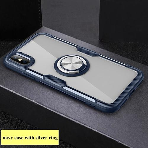 #5 navy case with silver ring