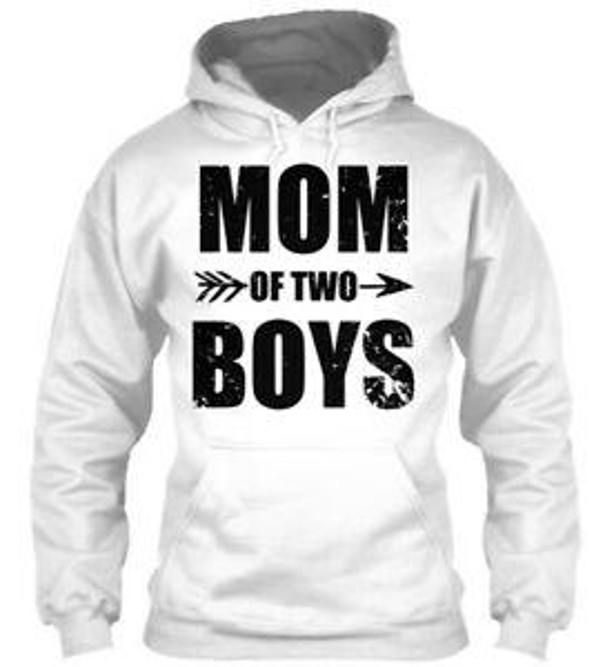 Felpa con cappuccio a manica corta Mom Of Two Boys For Mother